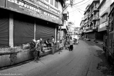 Chugging through the narrow streets of Kurseong