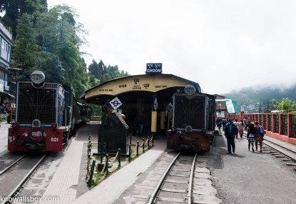 Halt at Ghoom Station