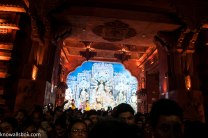 Crowd in front of a Pandal
