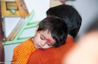 """Amidst all the noise, he was sleeping """"like a baby"""""""