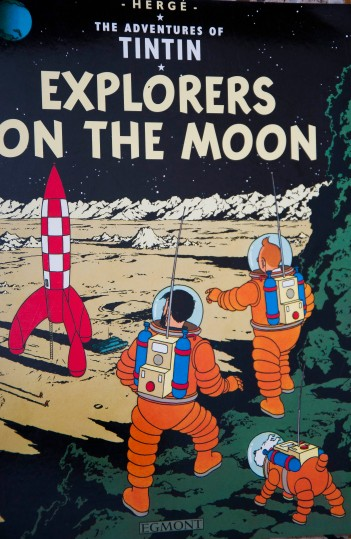 It was actually Tintin who was the first man to step on the Moon!