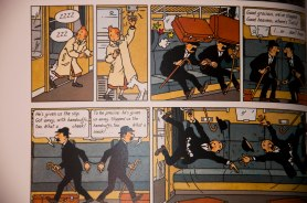 Tintin fools the detectives- Thompson and Thomson