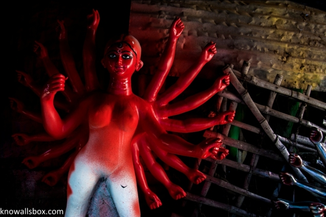 Ready to paint the town red- Kumartuli