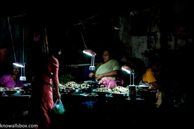 Ladies selling Fish- Imphal
