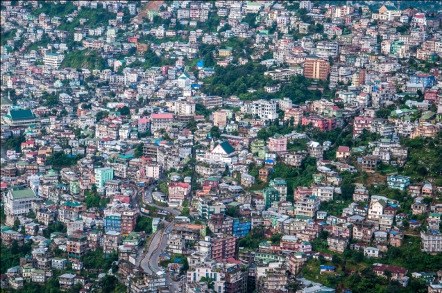 Aizawl- Bird's Eye View