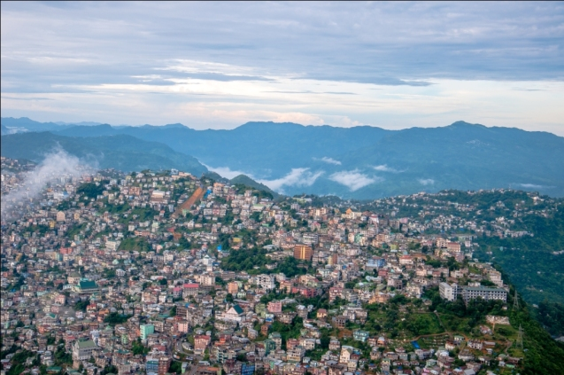 Aizawl in the Sky with Clouds